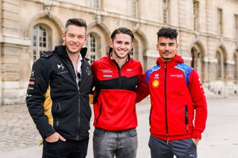 German drivers Andre Lotterer, DS TECHEETAH, Daniel Abt, Audi Sport ABT Schaeffler, and Pascal Wehrlein, Mahindra Racing