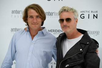 Freddie Hunt and Eddie Irvine at the Amber Lounge Fashion Show