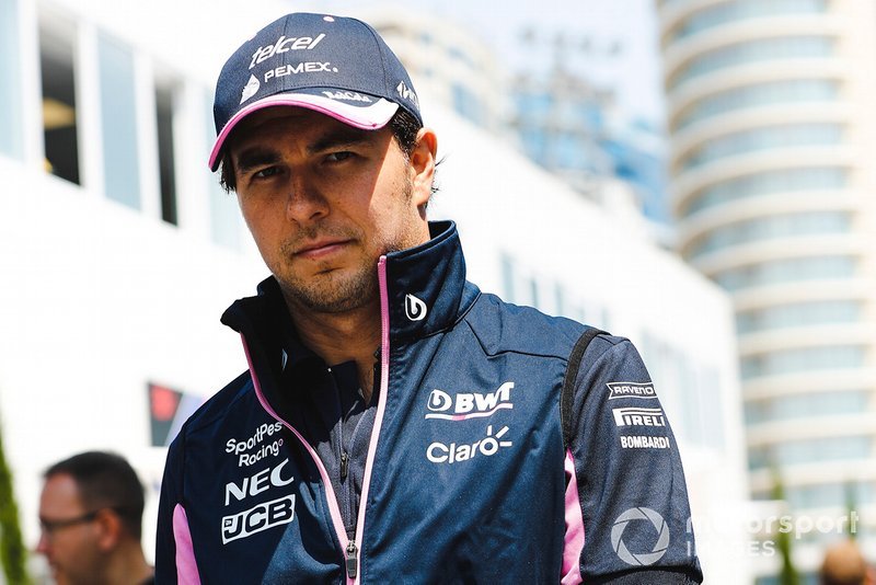 Sergio Perez, Racing Point nel paddock