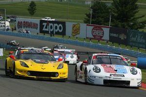 #4 Corvette Racing Corvette C7.R, GTLM: Oliver Gavin, Tommy Milner, #912 Porsche GT Team Porsche 911 RSR, GTLM: Earl Bamber, Laurens Vanthoor