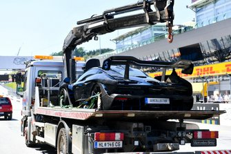 A McLaren Senna Supercar on a flatbed truck