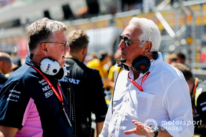Otmar Szafnauer, Team Principal, Racing Point, Lawrence Stroll, Pemilik, Racing Point