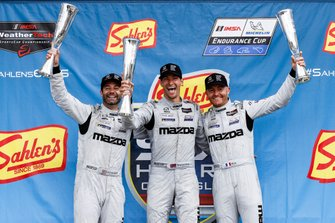 #55 Mazda Team Joest Mazda DPi, DPi: Jonathan Bomarito, Harry Tincknell, Olivier Pla, podium