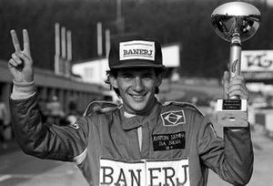 Ayrton Senna, Rushen Green Racing celebrates his victory