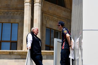 Helmut Markko, Consultant, Red Bull Racing and Max Verstappen, Red Bull Racing