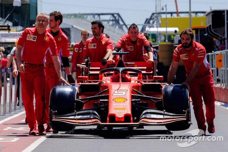 Carro de Sebastian Vettel, Ferrari SF90