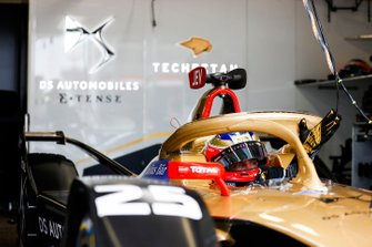 Jean-Eric Vergne, DS TECHEETAH, DS E-Tense FE19, waits to leave the garage