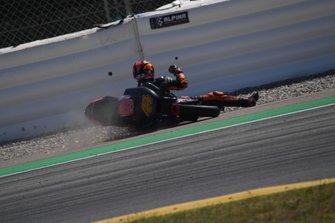 Pol Espargaró, KTM Factory Racing, crash Barcelona Test