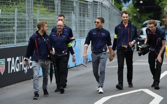 Sam Bird, Envision Virgin Racing, Robin Frijns, Envision Virgin Racing, walk the track