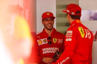 Antonio Fuoco, Reserve Driver, Ferrari, with Charles Leclerc, Ferrari