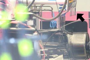 Racing Point RP20 detalles de la parte trasera
