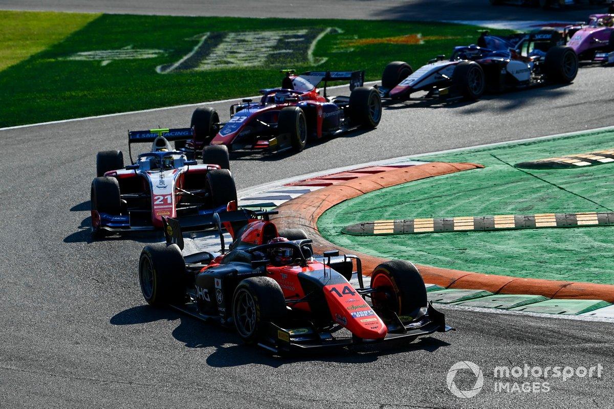 Nobuharu Matsushita, MP Motorsport, Robert Shwartzman, Prema Racing e Marino Sato, Trident