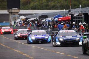 #17 KEIHIN NSX-GT, #100 RAYBRIG NSX-GT, #16 MOTUL MUGEN NSX-GT, #8 ARTA NSX-GT