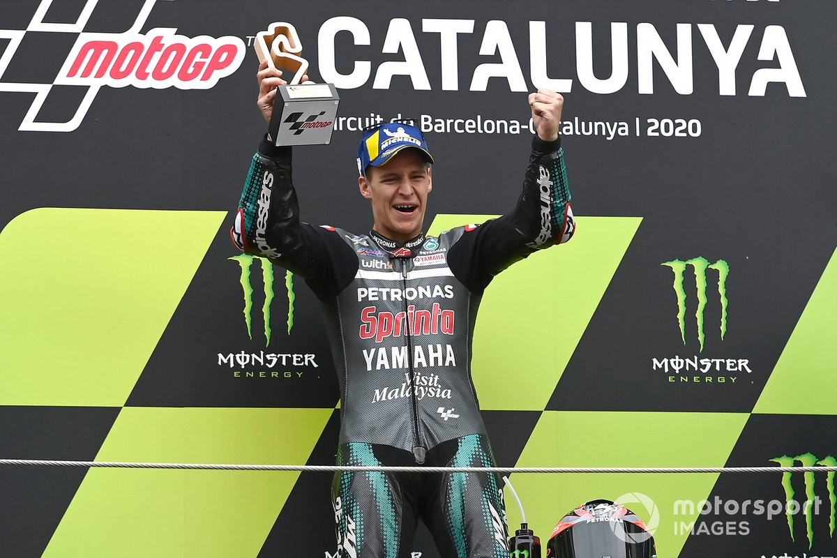 Il vincitore della gara Fabio Quartararo, Petronas Yamaha SRT