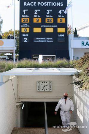 Scoreboard and paddock access tunnel