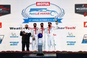 #911 Porsche GT Team Porsche 911 RSR - 19, GTLM: Nick Tandy, Fred Makowiecki, Matt Campbell, podium