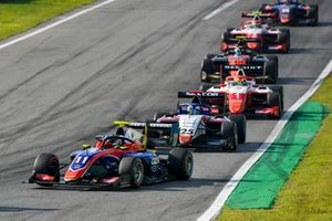 David Beckmann, Trident, Michael Belov, Charouz Racing System et Oscar Piastri, Prema Racing