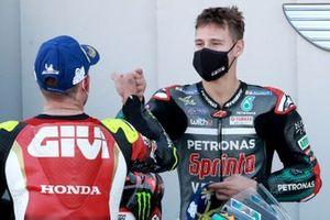 Polesitter Fabio Quartararo, Petronas Yamaha SRT, 3. Cal Crutchlow, Team LCR Honda