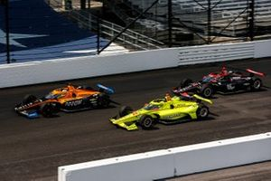 Oliver Askew, Arrow McLaren SP Chevrolet, Simon Pagenaud, Team Penske Chevrolet, Will Power, Team Penske Chevrolet