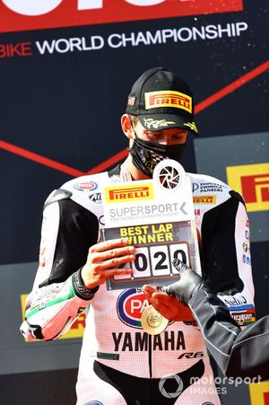 Andrea Locatelli, BARDAHL Evan Bros. WorldSSP Team, fastest lap award Estoril WorldSSP race2, 2020
