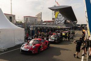 #91 Porsche GT Team Porsche 911 RSR: Richard Lietz, Gianmaria Bruni, Frederic Makowiecki, #92 Porsche GT Team Porsche 911 RSR: Michael Christensen, Kevin Estre, Laurens Vanthoor