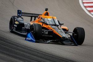 Vettura di Oliver Askew, Arrow McLaren SP Chevrolet con i danni dovuti all'incidente