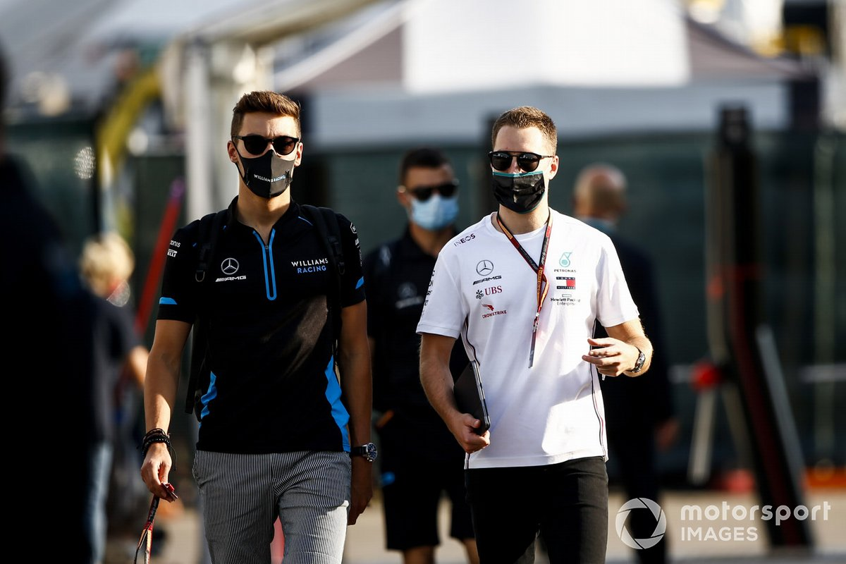 George Russell, Williams Racing y Stoffel Vandoorne, piloto reserva de Mercedes-AMG F1
