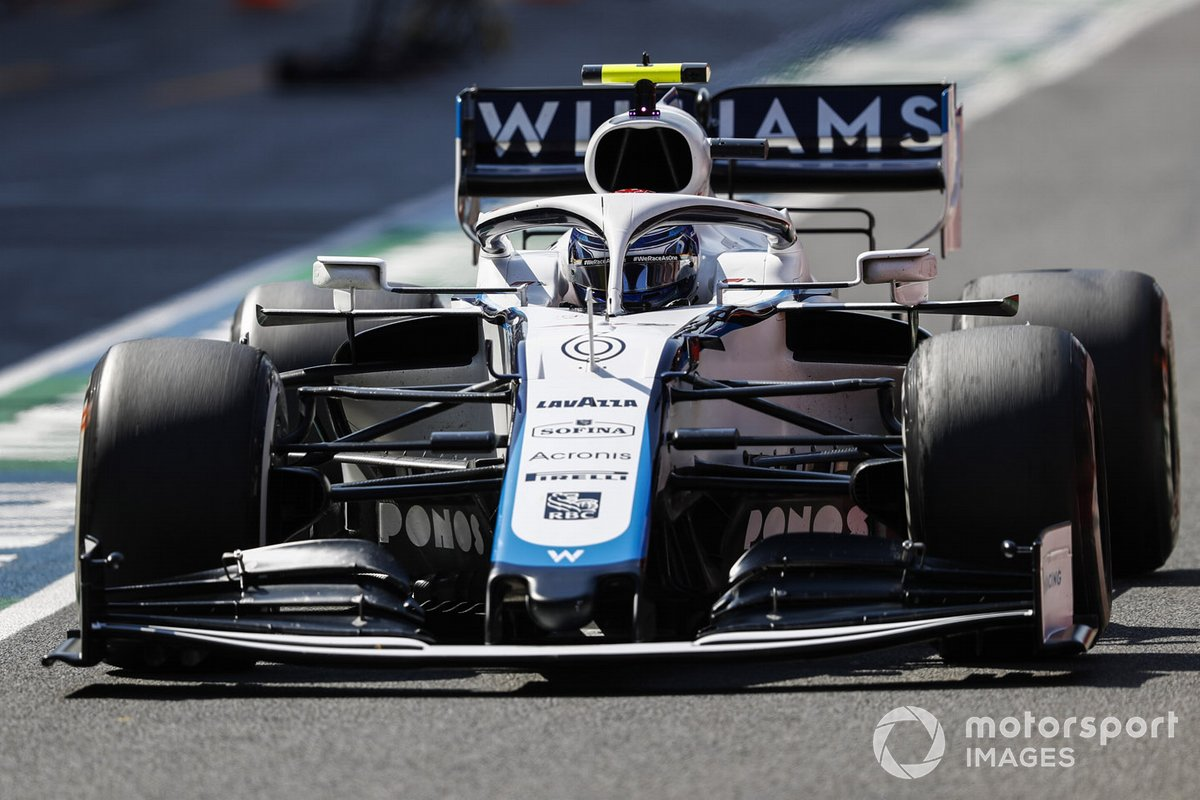 Николя Латифи за рулем Williams FW43