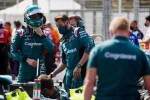 Lance Stroll, Aston Martin, on the grid