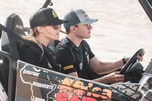 Mikaela Ahlin-Kottulinsky, JBXE Extreme-E Team, and Kevin Hansen, JBXE Extreme-E Team