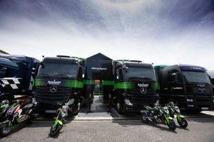 Kawasaki Racing Team WorldSBK race trucks