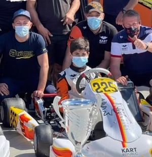 Matheus Ferreira no Europeu de Kart