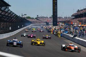 James Hinchcliffe, Andretti Steinbrenner Autosport Honda, Scott McLaughlin Penske Chevrolet, Graham Rahal, Rahal Letterman Lanigan Racing Honda