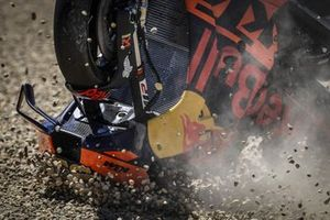 Motor van Brad Binder, Red Bull KTM Factory Racing crash