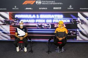 Pierre Gasly, AlphaTauri e Lando Norris, McLaren in conferenza stampa