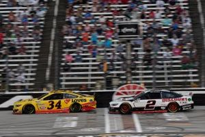 Michael McDowell, Front Row Motorsports, Ford Mustang Love's Travel Stops, Brad Keselowski, Team Penske, Ford Mustang Discount Tire