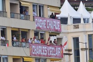 Support for local racer Charles Leclerc, Ferrari
