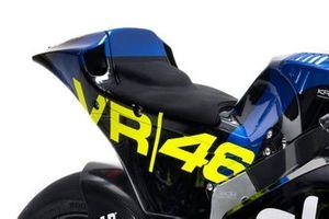 Detalle de la moto con el logo del VR46