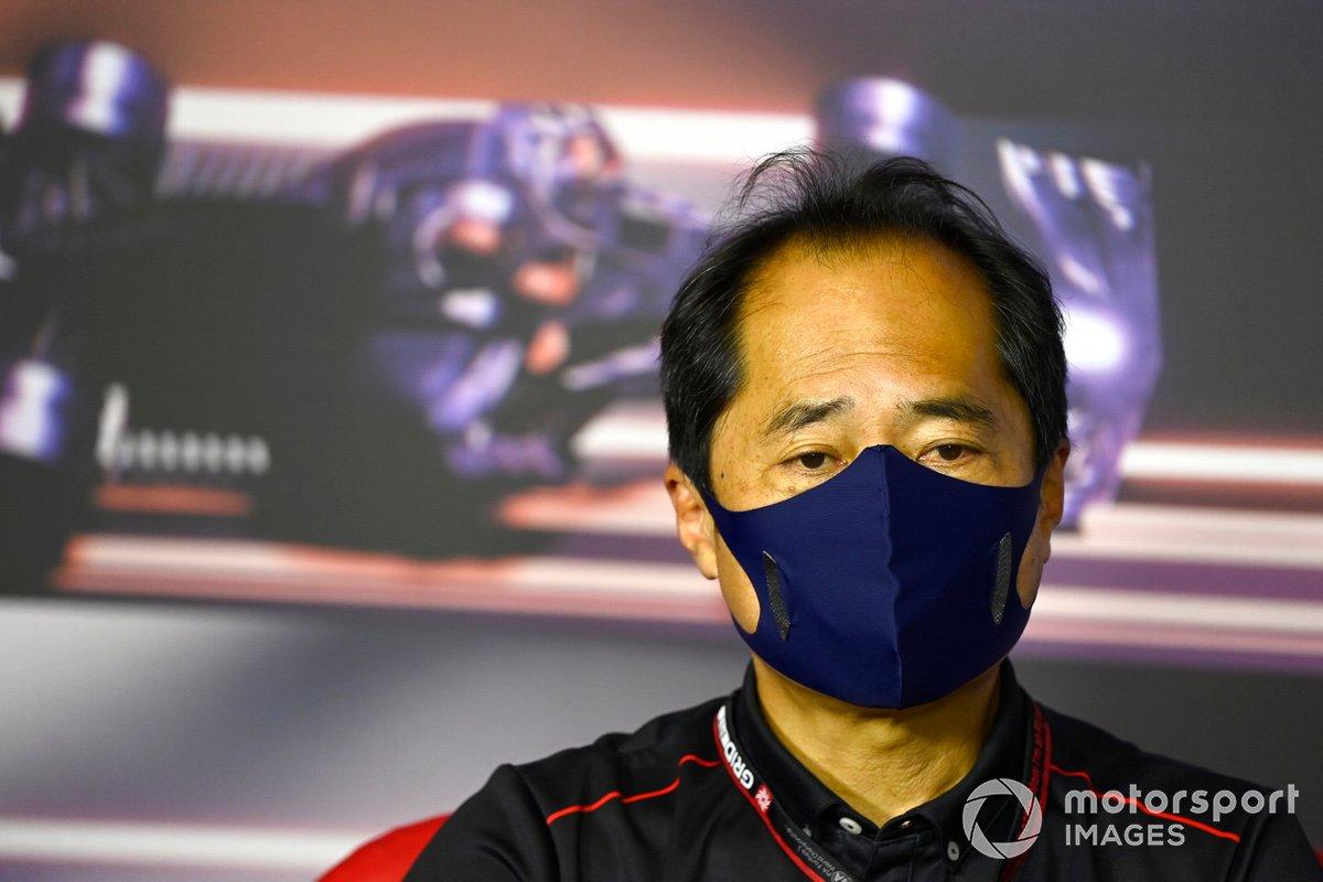 Toyoharu Tanabe, Director Técnico de F1 Honda, en la Conferencia de Prensa de los directores de equipo