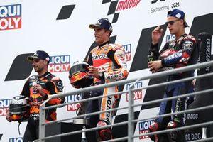 Marc Marquez, Repsol Honda Team, Miguel Oliveira, Red Bull KTM Factory Racing, Fabio Quartararo, Yamaha Factory Racing podium