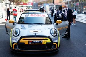Safety car driver Bruno Correa with the Mini Safety Car