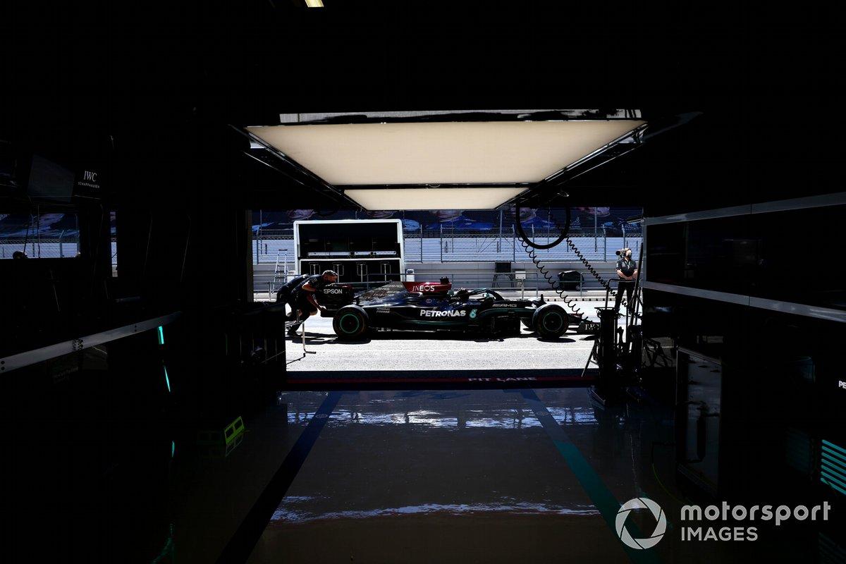 El coche de Lewis Hamilton, Mercedes W12