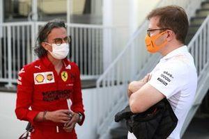 Laurant Mekies Ferrari and Andreas Seidl McLaren Team Principal