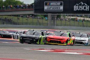 Jeb Burton, Kaulig Racing, Chevrolet Camaro Nutrien Ag Solutions, Miguel Paludo, JR Motorsports, Chevrolet Camaro BRANDT