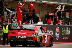 Race winner Kyle Busch, Joe Gibbs Racing, Toyota Supra Skittles Gummies