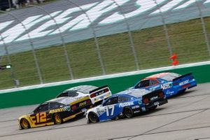 Ryan Blaney, Team Penske, Ford Mustang Advance Auto Parts, Chris Buescher, Roush Fenway Racing, Ford Mustang Fastenal