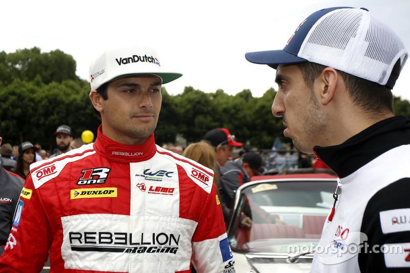 #12 Rebellion Racing Rebellion R-One AER: Nelson Piquet Jr.and #1 Porsche Team Porsche 919 Hybrid: Brendon Hartley