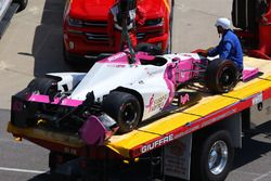 Pippa Mann, Dale Coyne Racing Honda, l'auto incidentata