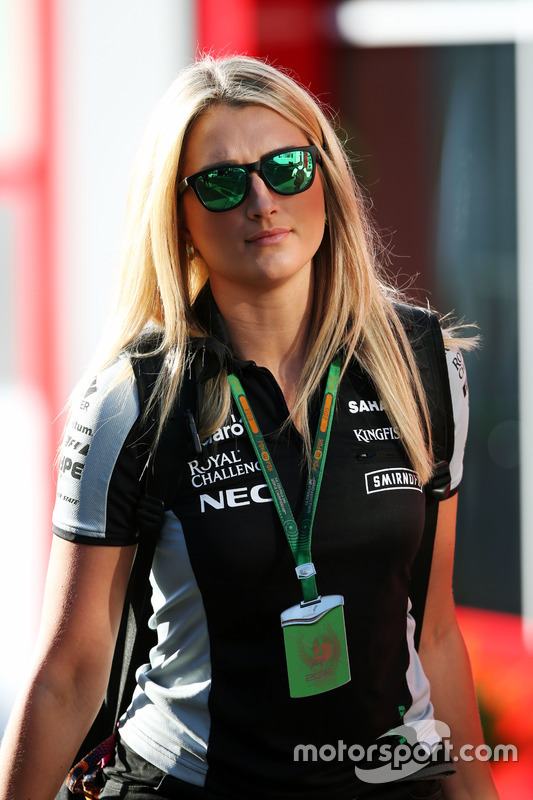 Victoria Helyar, Sahara Force India F1 Team