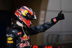 Third place Daniil Kvyat, Red Bull Racing in parc ferme